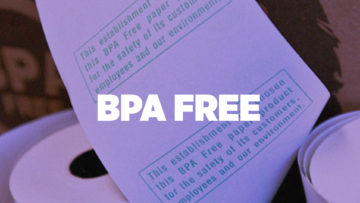 BPA free thermal papers
